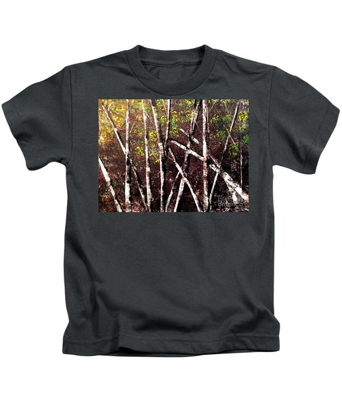 Haunted Birches Kids T-Shirt
