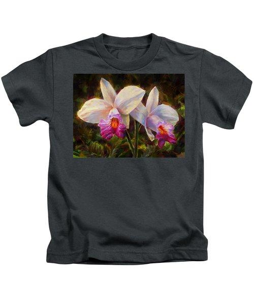 Hawaiian Bamboo Orchid Kids T-Shirt