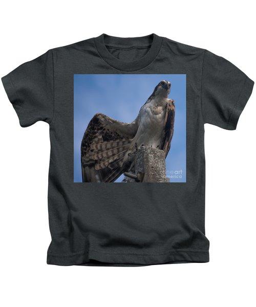 Hawk Stretching Kids T-Shirt