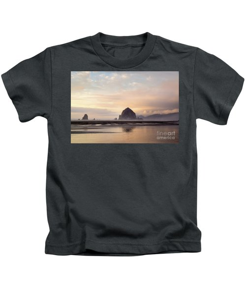 Haystack Rock After The Rain Kids T-Shirt