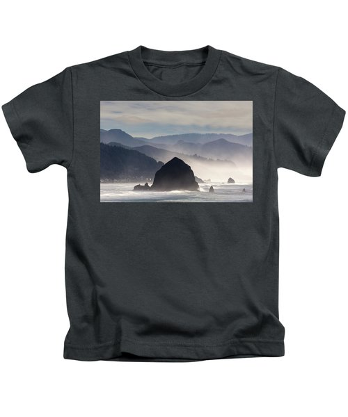Haystack Rock On The Oregon Coast In Cannon Beach Kids T-Shirt