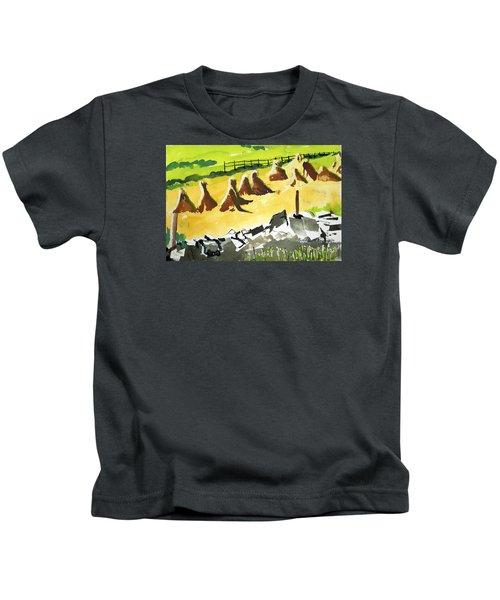 Haystacks And Wall Kids T-Shirt