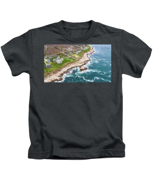 Hazard Rocks, Narragansett  Kids T-Shirt