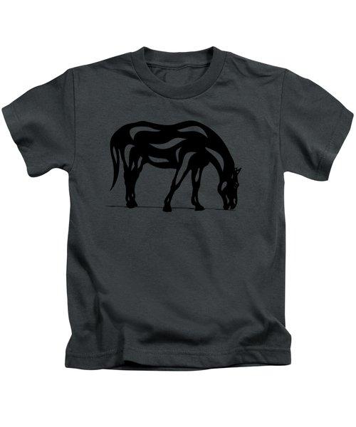 Hazel - Abstract Horse Kids T-Shirt
