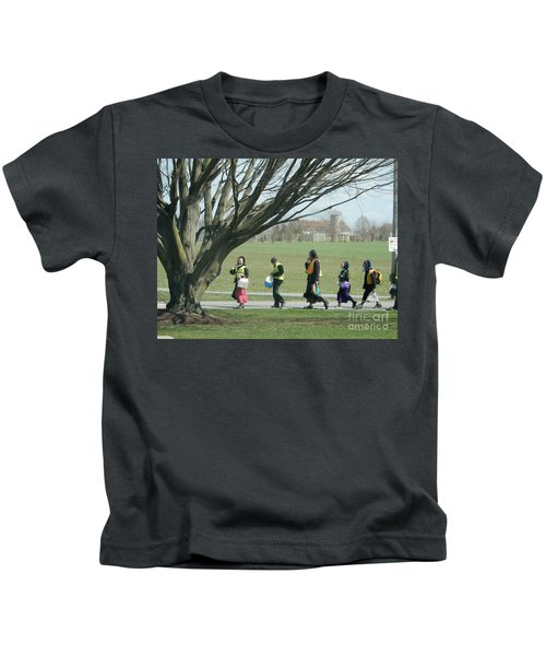 Heading Home From School Kids T-Shirt