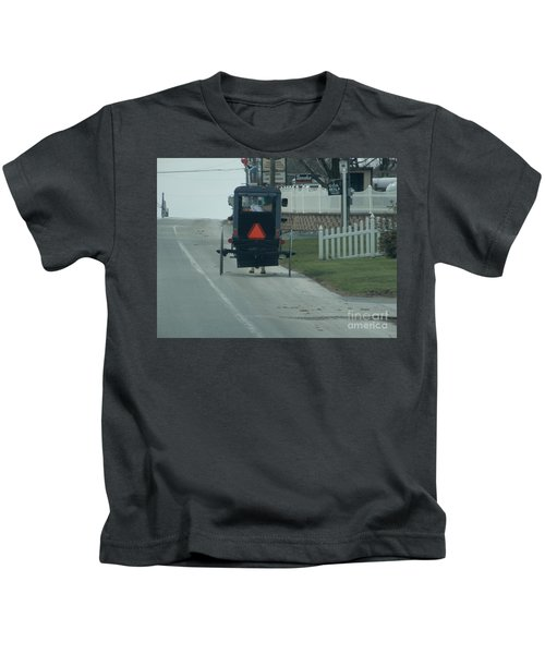 Heading Home From The Store Kids T-Shirt