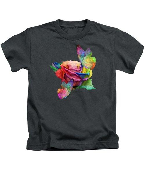 Healing Rose Kids T-Shirt by Carol Cavalaris