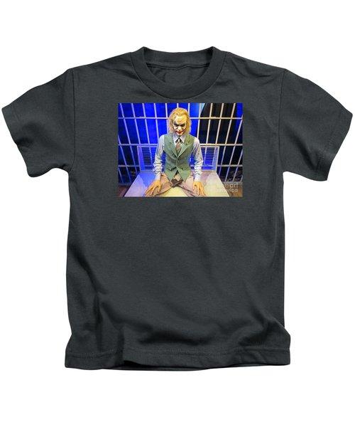 Heath Ledger As The Joker Kids T-Shirt by John Malone