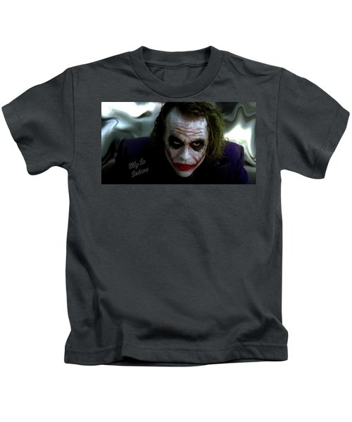 Heath Ledger Joker Why So Serious Kids T-Shirt