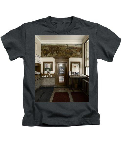 Hebron Nebraska Post Office Mural Kids T-Shirt