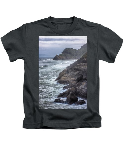 Heceta Head Light - Color Kids T-Shirt