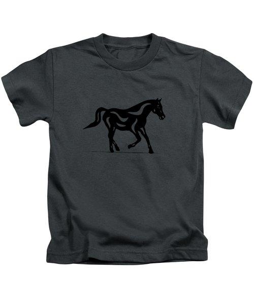 Heinrich - Abstract Horse Kids T-Shirt