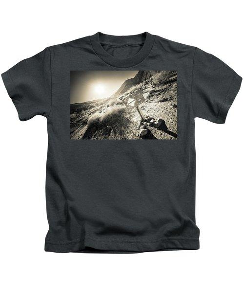 Hellhole Canyon Warning Kids T-Shirt