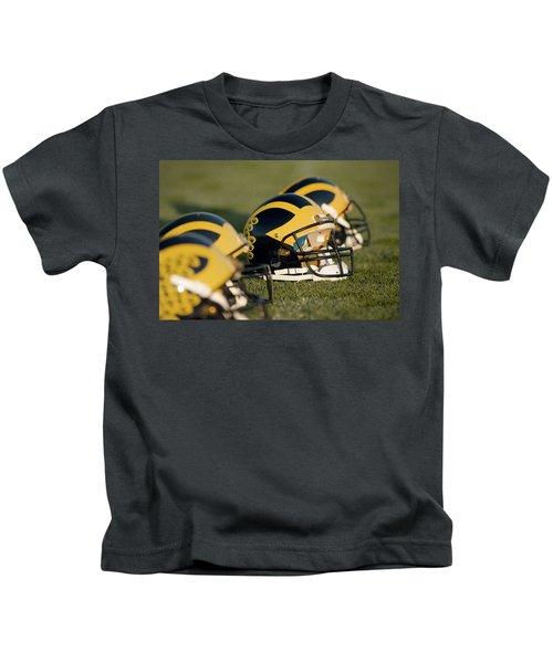 Helmets On The Field Kids T-Shirt