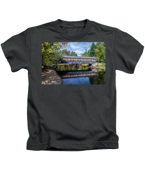 Hemlock Covered Bridge Kids T-Shirt