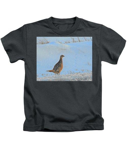 Hen Pheasant Kids T-Shirt
