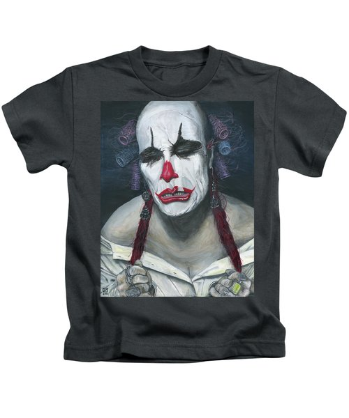 Kids T-Shirt featuring the painting Her Tears by Matthew Mezo