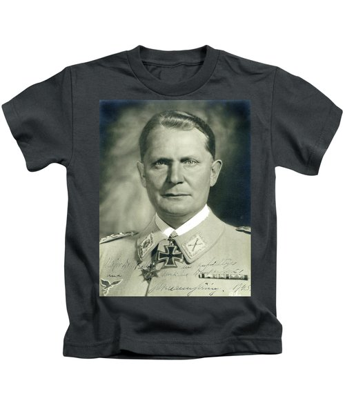 Herman Goering Autographed Photo 1945 Color Added 2016 Kids T-Shirt