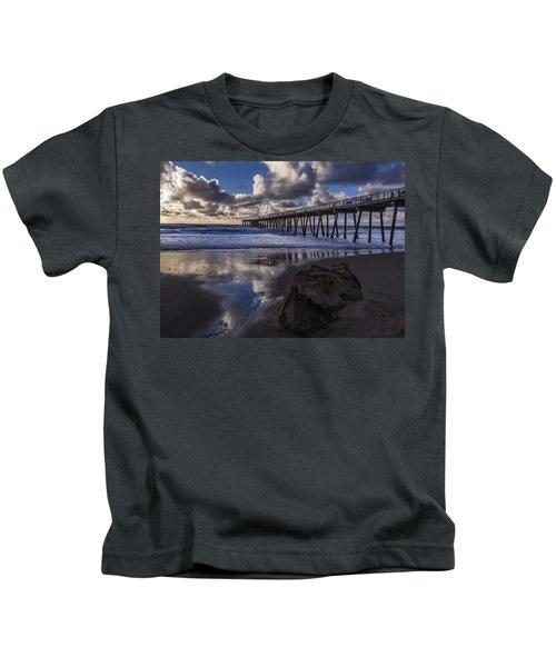 Hermosa Beach Pier Kids T-Shirt