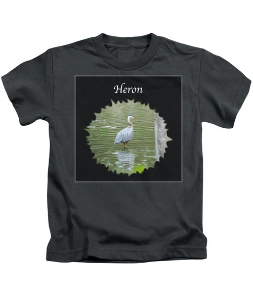 Heron Kids T-Shirt by Jan M Holden