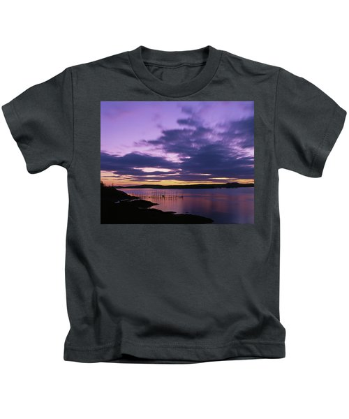 Herring Weir, Sunset Kids T-Shirt