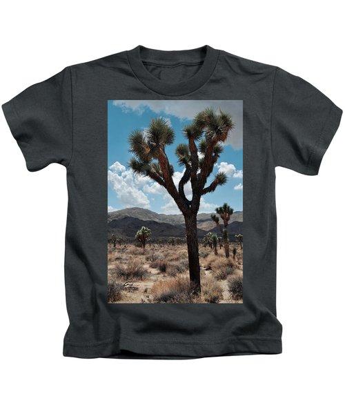 Hidden Valley Joshua Tree Portrait Kids T-Shirt
