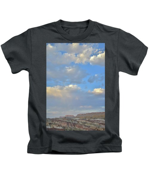 High Clouds Over Caineville Wash Kids T-Shirt
