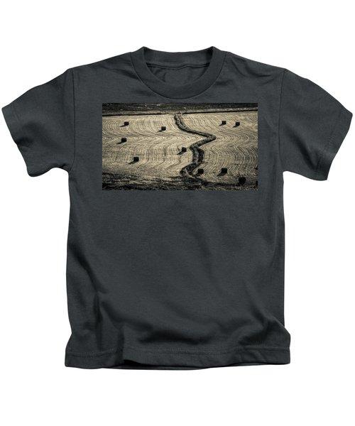 High Mountain Hay Field #3 Kids T-Shirt