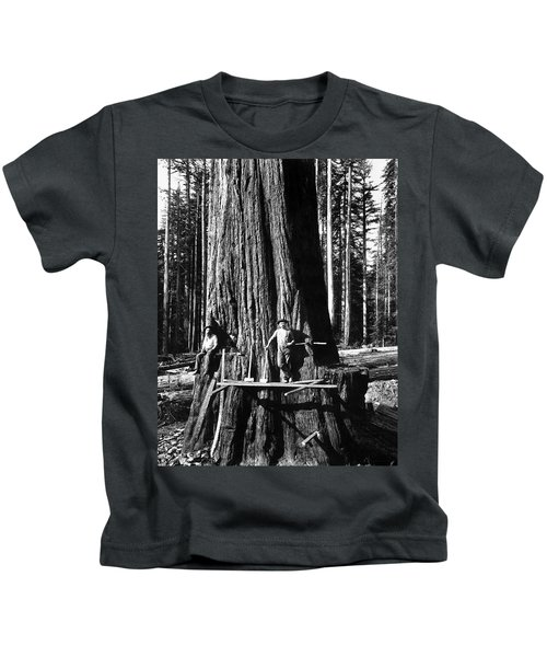 High On A Giant Sequoia C. 1880 Kids T-Shirt