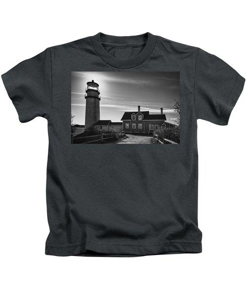 Highland Lighthouse Bw Kids T-Shirt
