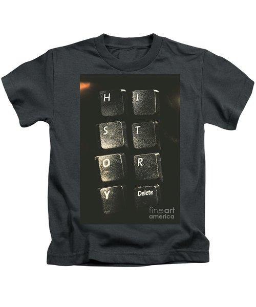 History. Delete. Reboot Kids T-Shirt