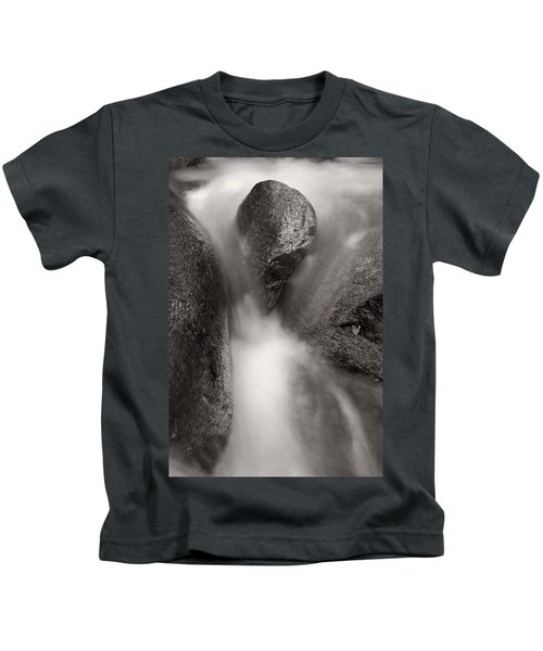Hogback Creek And Granite Inyo Natl Forest Bw Kids T-Shirt
