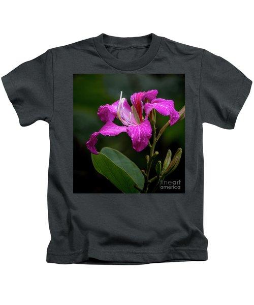 Hong Kong Orchid Kids T-Shirt