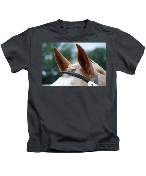 Horse At Attention Kids T-Shirt