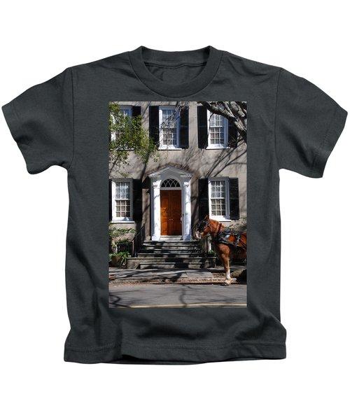 Horse Carriage In Charleston Kids T-Shirt