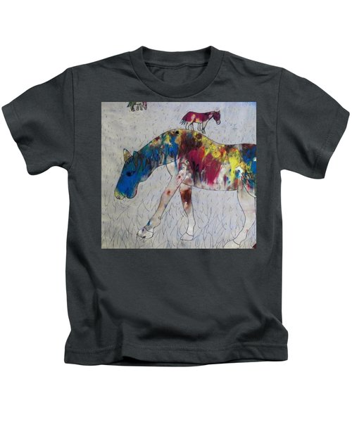 Horse Of A Different Color Kids T-Shirt