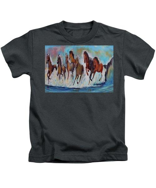 Horses Of Success Kids T-Shirt