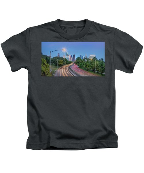 Houston Evening Cityscape Kids T-Shirt