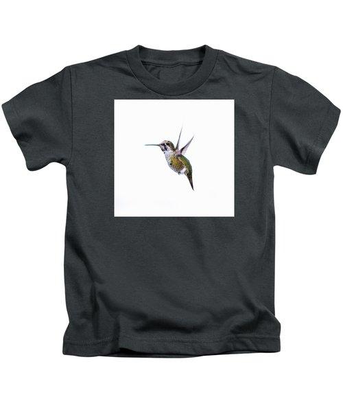 Hummingbird In Flight Kids T-Shirt