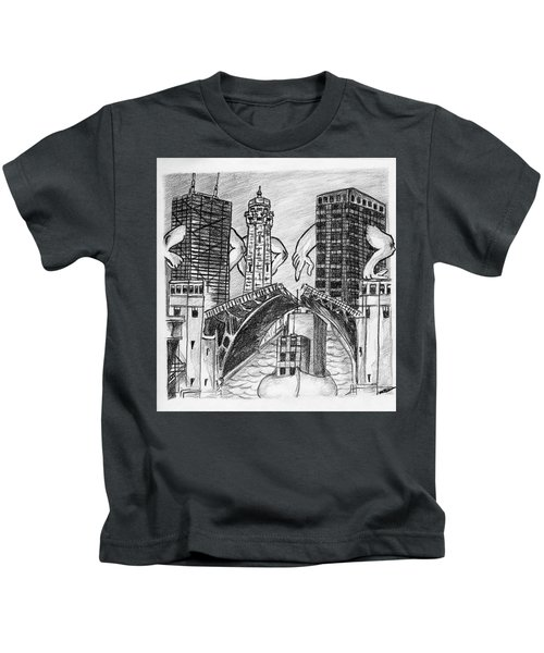 Humor Chicago Landmarks Kids T-Shirt