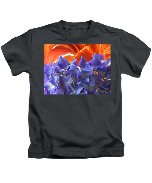 Hyacinth With Flames Kids T-Shirt