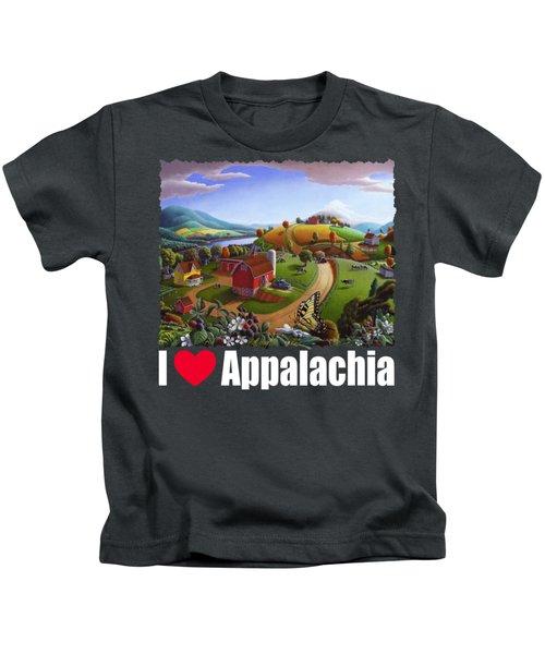 I Love Appalachia T Shirt - Appalachian Blackberry Patch Rural Landscape 2 Kids T-Shirt