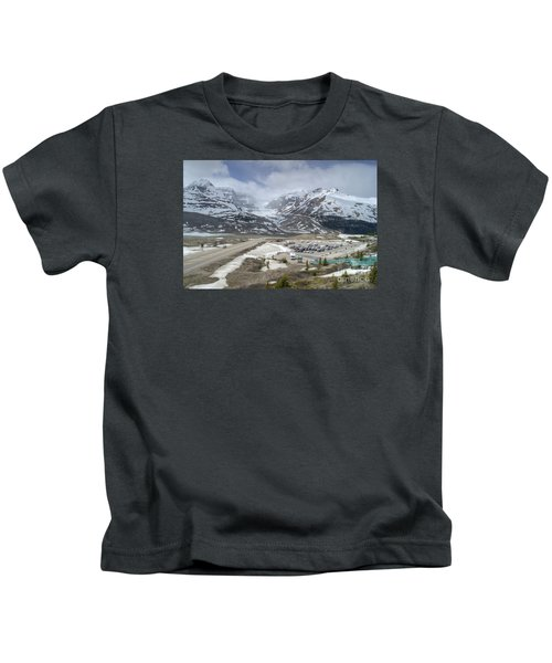 Icefields Parkway Highway 93 Kids T-Shirt