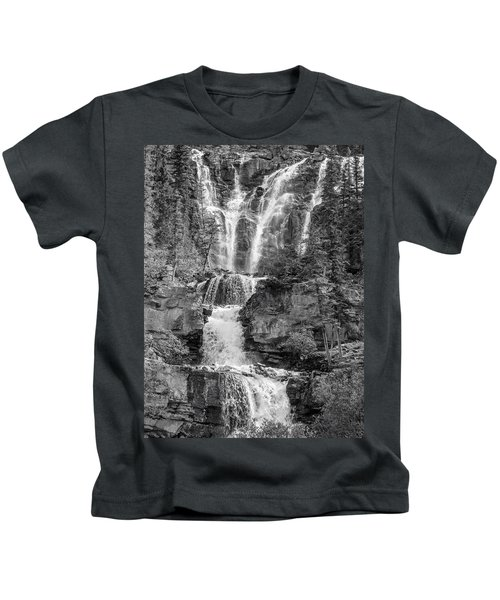 Icefields Waterfall Kids T-Shirt