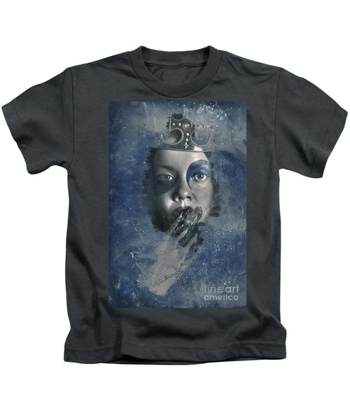 Icy Window Reflection. Wicked Queen Of Winter Kids T-Shirt