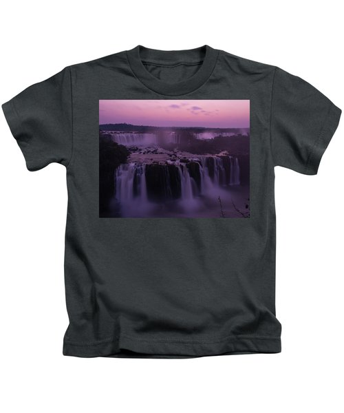 Iguazu Sunset In Violet Kids T-Shirt