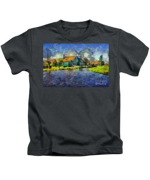 Impressions Of Zaanse Schans Kids T-Shirt
