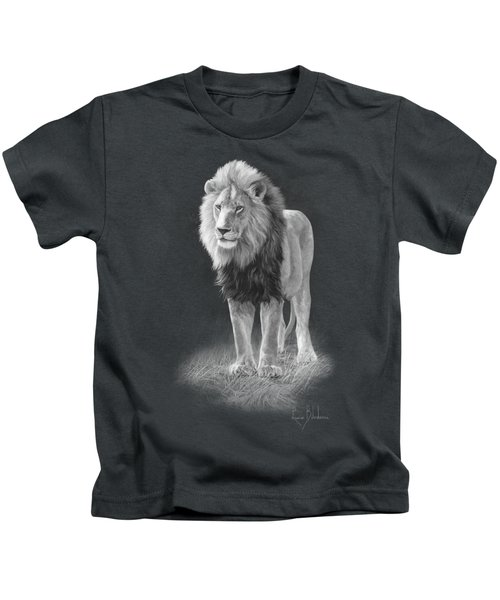 In His Prime - Black And White Kids T-Shirt by Lucie Bilodeau