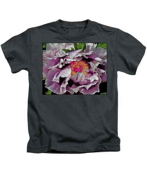 In The Eye Of The Peony Kids T-Shirt