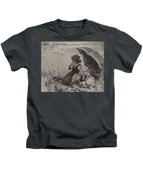 In The Harvest Field, Guardians Of The Luncheon Basket Kids T-Shirt